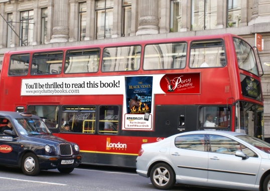 London Bus Advert for The Black Venus