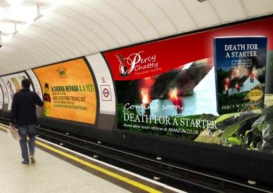 Percy Chattey Book Poster on Underground Billboard