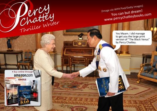 Queen recieves a new book