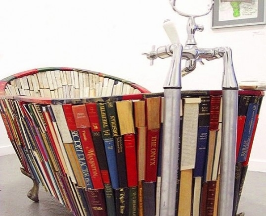 Bath Tub made of Books!